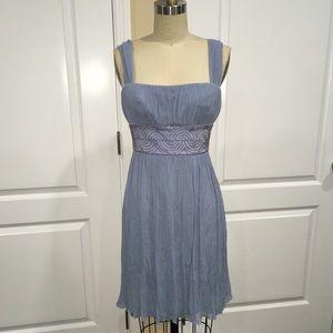 Maggy London Blue Chiffon Dress